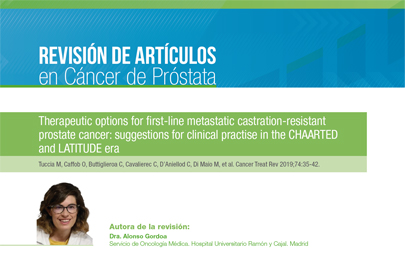 Therapeutic options for first-line metastatic castration-resistantprostate cancer: suggestions for clinical practise in the CHAARTEDand LATITUDE era