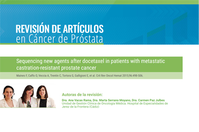 Sequencing new agents after docetaxel in patients with metastatic castration-resistant prostate cancer